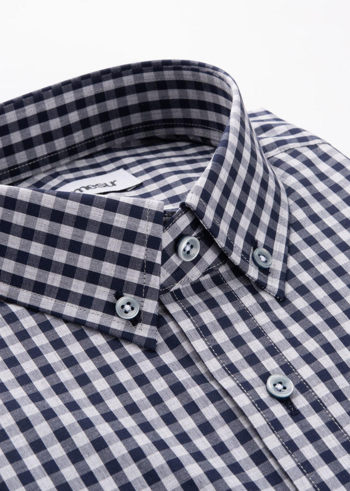 Sport shirt Grey & Navy Gingham Sport Shirt