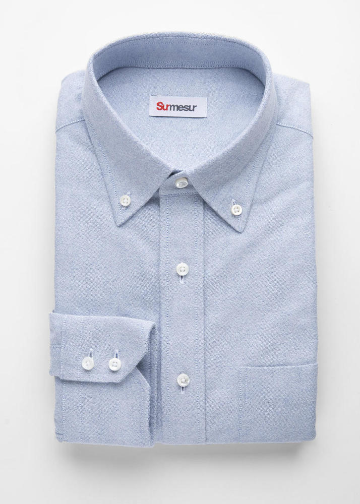 Sport shirt Light Blue Flannel Oxford Sport Shirt