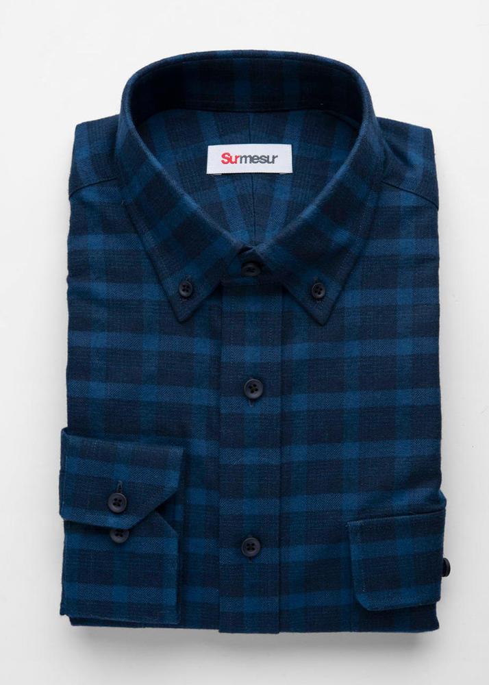 Chemise sport Chemise sport bleue à carreaux