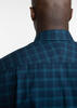 Sport shirt Navy & Teal Plaid Sport Shirt