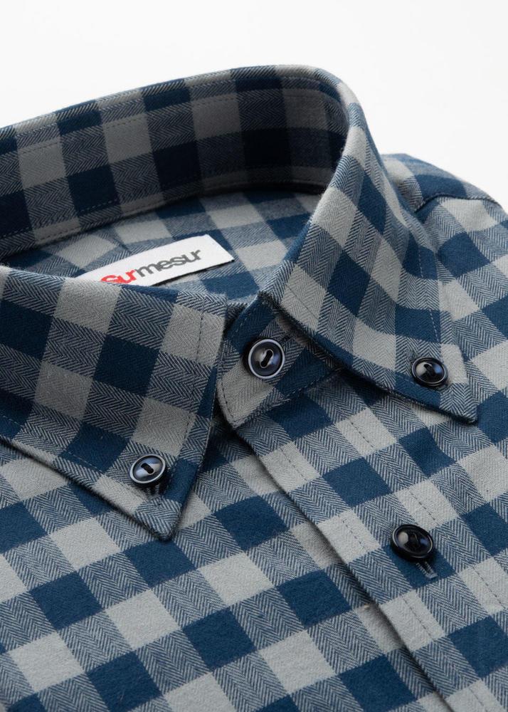 Sport shirt Grey & Navy Check Sport Shirt
