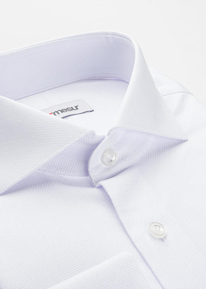 Dress shirt Crisp White Shirt with French Cuff