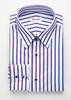 Dress shirt Blue & Red Stripes Bamboo Shirt