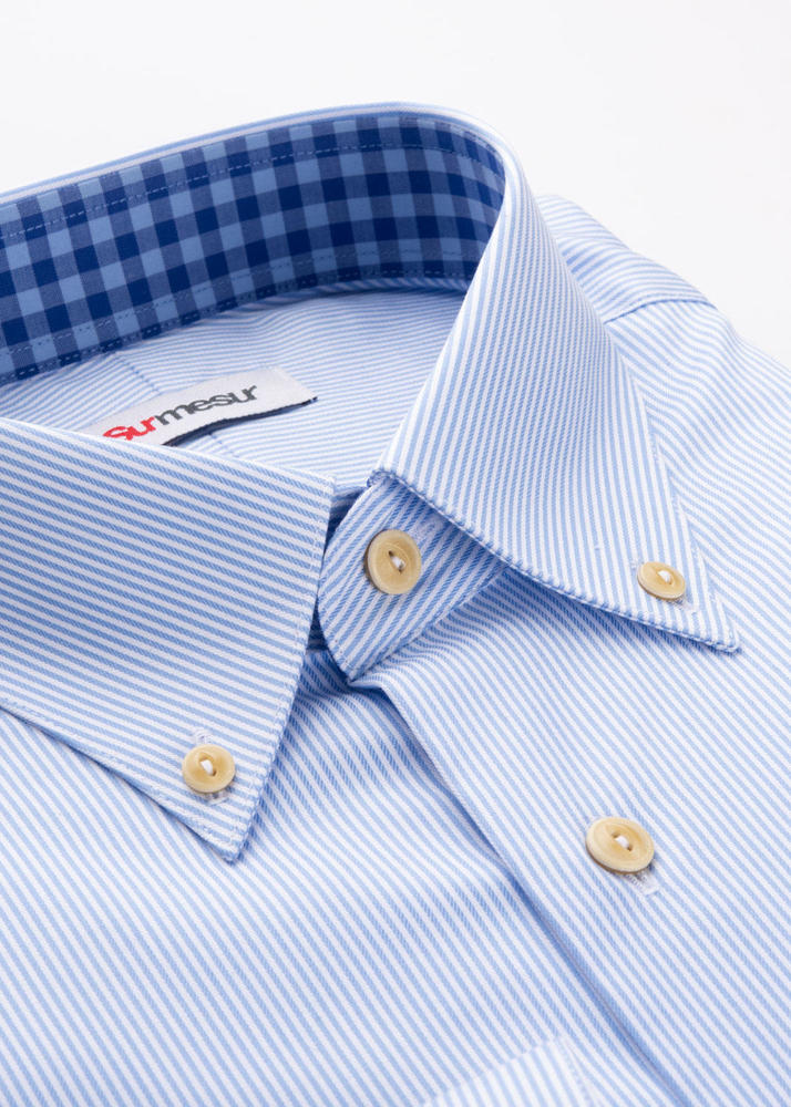 Dress shirt Blue Stripes Shirt - Antibacterial Series