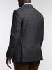 Jacket Grey Burgundy Gun Club Double Breasted Wool Sports Jacket