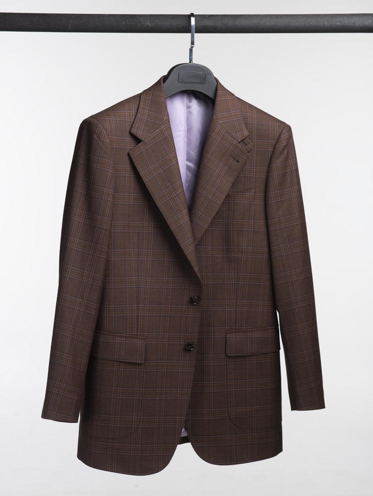 Jacket Rusty Brown Plaid Wool Sports Jacket