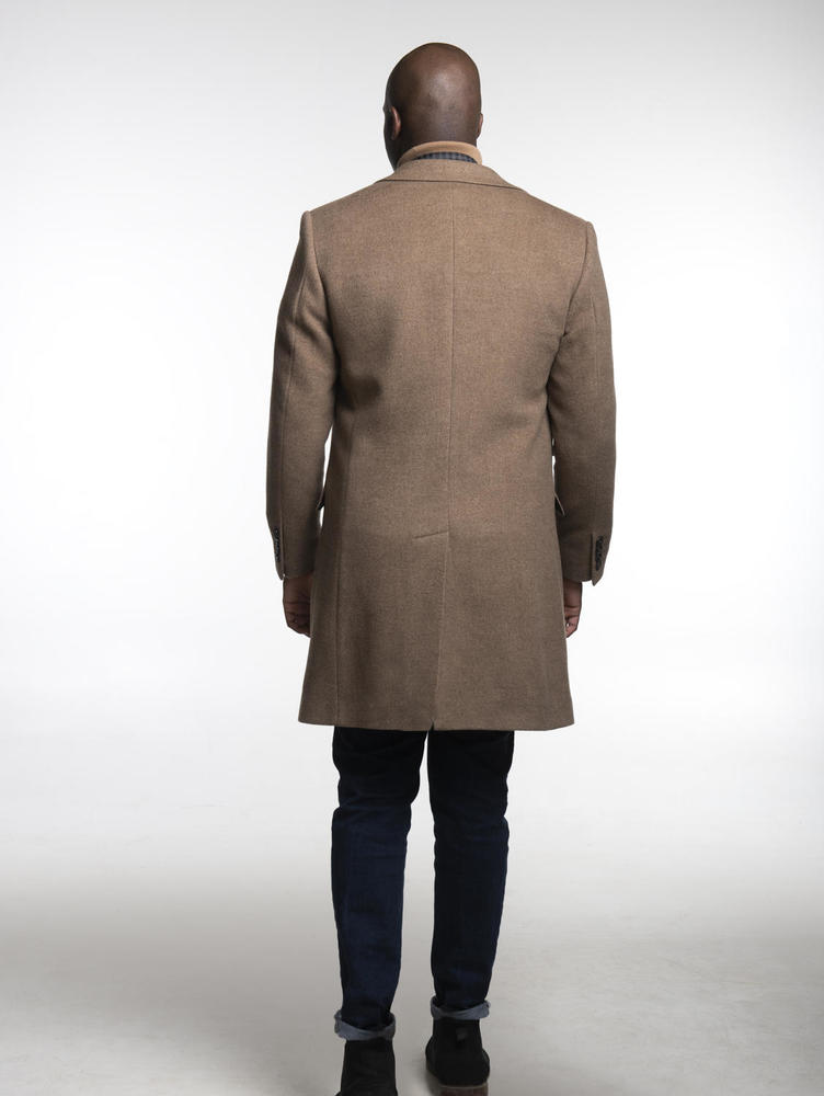 Overcoat Light Brown Herringbone Coat