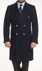 Overcoat Navy Double-Breasted Coat
