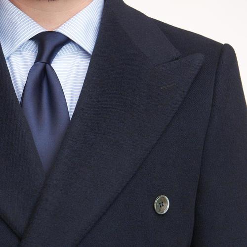 OVERCOAT Navy Double-Breasted Coat