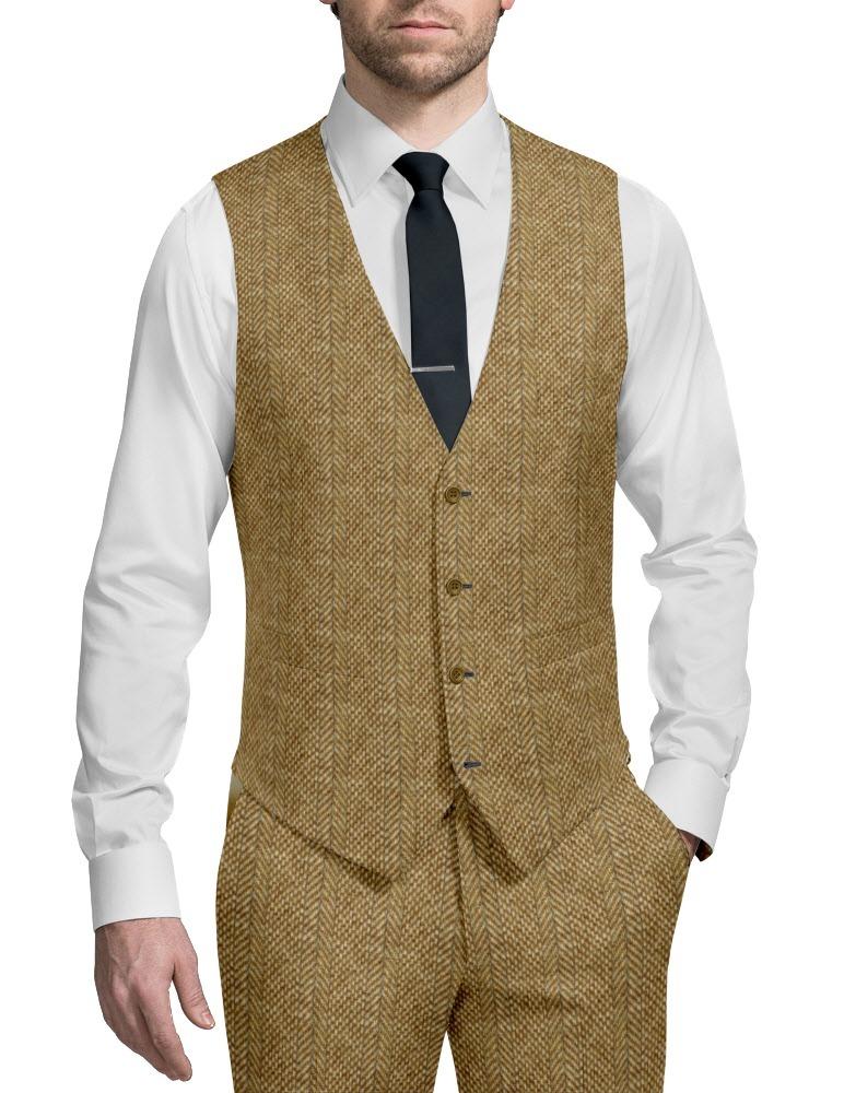 Three-piece suit tweed