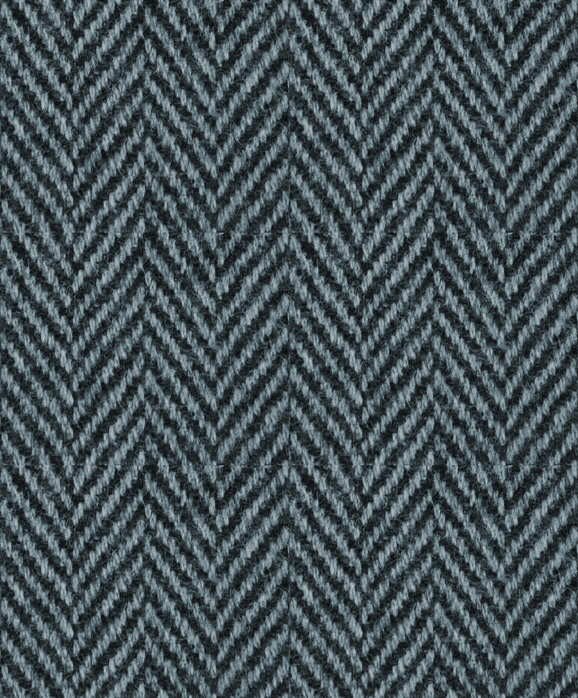 Overcoat blue harringbone