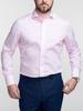 Chemise habillée Chemise rose à fines rayures