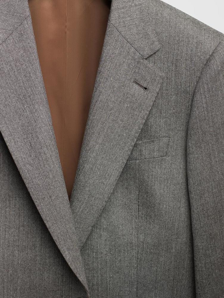 Veston Veston à chevrons gris clair en laine