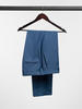 Trousers Crystal Blue Sharkskin Wool Trousers